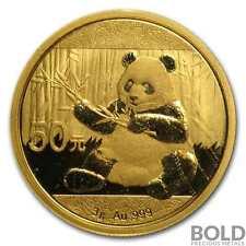 2017 Gold 50 Yuan Chinese Panda .999  - 3 g (Sealed)