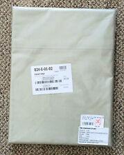 The Company Store Pale Leaf 500 TC Plain Supima Sateen Full Flat Sheet E1I4-F