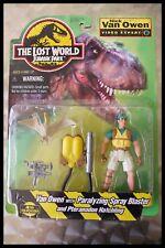 Vintage Nick Van Owen Jurassic Park El Mundo Perdido figura cardada Moc Sellado 1997