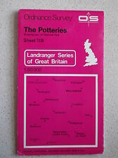 ORDNANCE SURVEY MAP THE POTTERIES SHEET 118 SHOWING PART OF THE NATIONAL PARK
