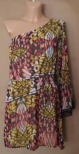 Bebe 2b bebe Gorgeous Print One Shoulder Chiffon Dress—Size M