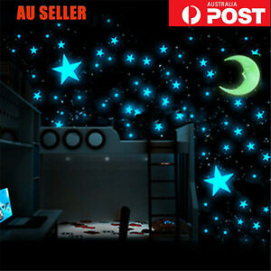 up to 500 Star & Moon Night Light Glow In The Dark Wall Decal Ceiling Sticker