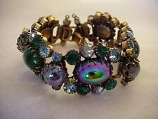 Magnificent Schreiner Bracelet In Stunning Peacock Colors (BR448)