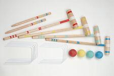 NEW Halex Classic Croquet 4 Player Set - Hardwood Wood Mallets, 4 Polymer Balls