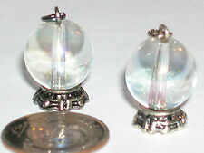 1 Pc. Miniature tiny little Magical Crystal Ball Witch Pendant charm 22mm *~New