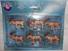 Lionel 6-24251 The Polar Express Caribou Animal Pack New 6 Pieces O 027 Mib