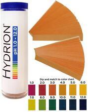 NC-12412, pH Strips, 1-12 range, vial of 100 strips, Test Paper, Litmus