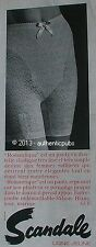 PUBLICITE SCANDALE LIGNE JEUNE PANTY EN DENTELLE RILSAN 55 Frs DE 1966 FRENCH AD