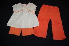 GYMBOREE Wildflower Fields Mixed Print Top 2T, TCP Orange Capris 3T, Bike Shorts