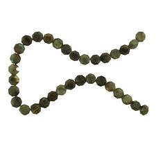 LABRADORITE NATIVE CUT 12MM FACETED FLAT OCTAGON BEADS