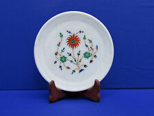 Marble Marquetry Gems Inlay Plate Flowers Pietra dura home Decor Handicrafts