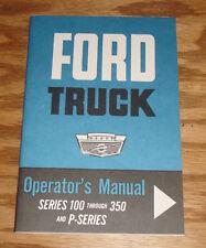1963 Ford Truck Owners Operators Manual 63 Series 100 - 350 & P-Series