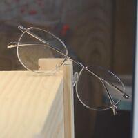 100% Pure Titanium Men Optical Eyeglasses Frame womens oval Myopia RX Glasses