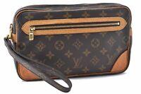 Auth Louis Vuitton Monogram Marly Doragonne Clutch Hand Bag M51825 LV A6801