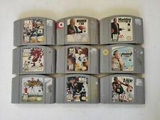 Nintendo 64 N64 9 Game Lot Sports Bundle - All Authentic