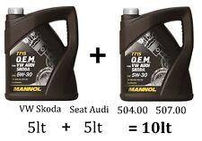 10lt MANNOL GERMANY OEM LONGLIFE 3 Engine Oil 5w/30 504.00 507.00 VW AUDI SPEC