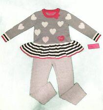 Betsey Johnson Little girls sweater & leggings set