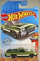 2019 Hot Wheels #29/250 HW Hot Trucks 8/10 '72 FORD RANCHERO Green w/Black Pr5sp