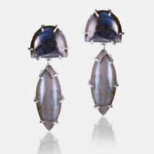 925 Sterling Silver LABRADORITE GEMSTONE Drop Earrings