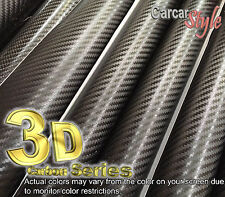 3D Black CARBON FIBRE VINYL 1500MM(59.8in) x 300MM(11.8in) WRAP STICKER[AirFree