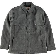 Filson Showroom Sample - Lined Wool Cape Coat Gray Black Twill Size M