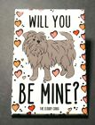 Affenpinscher Dog and Hearts Magnet Handmade Valentines Day Gifts Holiday Decor