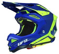 UFO Motocross Helmet Diamond 2019 Navy Blue Yellow L
