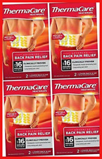 Thermacare Lower back Heat Wraps 4 x 2 Pack = 8 Wraps