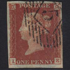 A10 GB QV 1841 1d RED-BROWN PLATE 39 SG8-B1(1) IK FU LONDON NO.5 4 MARGINS