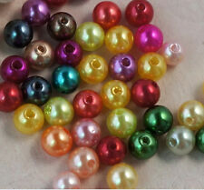 "300 pcs  mix Color ""ABS' imitation pearls round beads 6mm"