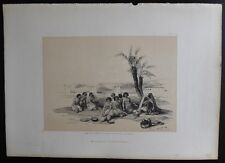 David Roberts Authentic 1856 Quarto Lithograph Plate 152 Abyssinian Slaves Korth
