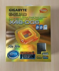 Gigabyte GA-X48-DQ6 Sockel 775 ATX Mainboard ATX Blende Motherboard OVP Zubehör