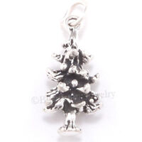 PINE TREE Charm Sterling Silver 925 .925 Christmas PINECONE Pendant 3D