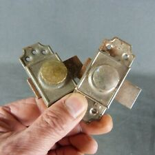 Lot of 2 French Vintage, Hardware Iron Slide Bolt Latch Lock Country Rustic