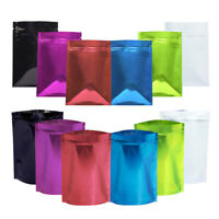 NE_ 100Pcs 7x10cm Aluminum Foil Waterproof Resealable Ziplock Packaging Bags Eyl