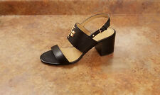New! Tory Burch 'Everly' 65mm Pump Sandal Black Gold Womens Size 9.5 M MSRP $298