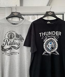 Harley-Davidson Men's Thunder In the Glens / Wake The Lakes T-Shirts Size XL