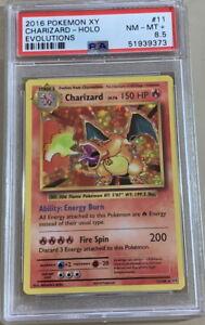 POKEMON Card 2016 XY EVOLUTIONS CHARIZARD #11/108 Rare HOLO PSA 8.5 Graded Nice!