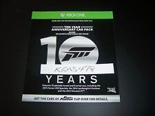 FORZA 6 SIX 10 YEAR ANNIVERSARY CAR PACK DLC Code Xbox One 1