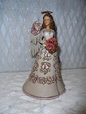 Jim Shore Heartwood Creek Blessings On Your Anniversary Angel Red Rose Bouquet