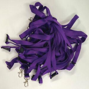 Purple Lanyards | Lanyard Neck Strap | Safety Breakaway | Metal Clip | Pack of 5