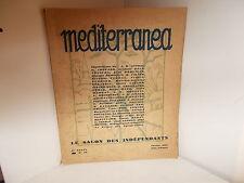 Mediterranea, N° 26, Février 1929, Le Salon des Indépendants, Odilon Redon, ...