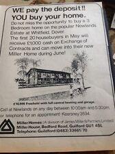 67-3 Ephemera 1974 Advert Houses For Sale Newlands Estate Whitfield Dover