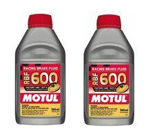 Motul RBF 600 DOT 4 Racing Brake Fluid Fully Synthetic CAR & BIKE (Qty 2 x 0.5L)