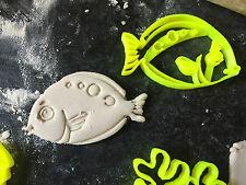 Conjunto de pequeños animales peces Mar Cortador de Galletas Fondant Cupcake Decoración de Pasteles