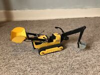 Vintage Toy 1970s YELLOW TONKA T6 TRACKED TRENCHER  Loader & Backhoe T-6 2534