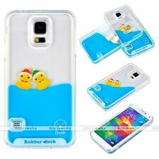 3D Moving Liquid Water Yellow Ducks Phone Case Cover Fits Samsung Galaxy S5 New