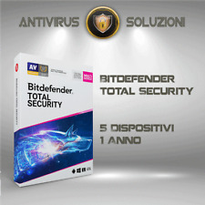 Bitdefender Total Security 2020 5 Dispositivi 1 Anno Account Centrale + VPN