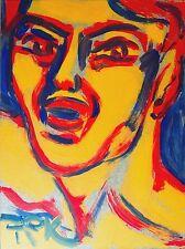 Felix Samuel Pfefferkorn *1945 Character Empörung 1976 Acryl 40 x 30 cm III-34