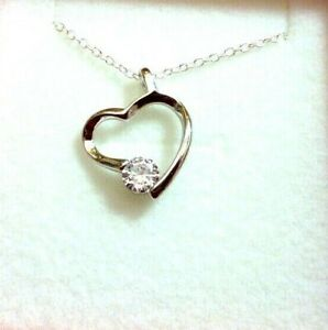 Bridal Bridesmaid Flower Girl Heart with Crystal Necklace Boxed Wedding favour